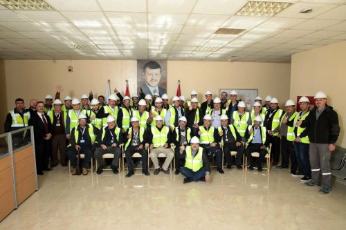 Palestinian Delegation Visit to Cementra Plant